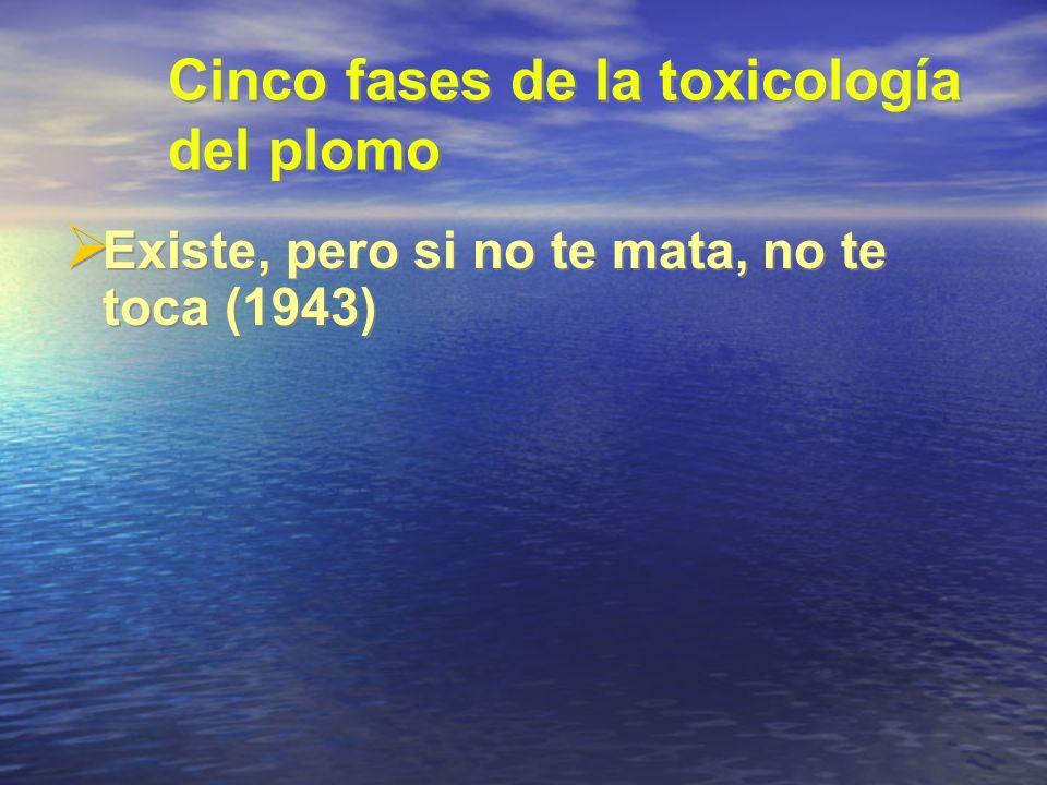 Cinco fases de la toxicología del plomo Existe, pero si no te mata, no te toca (1943)