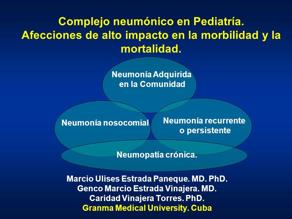 Complejo neumónico en Pediatría. Afecciones de alto impacto en la morbilidad y la mortalidad. Marcio Ulises Estrada Paneque. MD. PhD. Genco Marcio Est