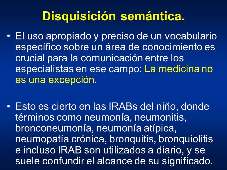 Disquisición semántica. El uso apropiado y preciso de un vocabulario específico sobre un área de conocimiento es crucial para la comunicación entre lo