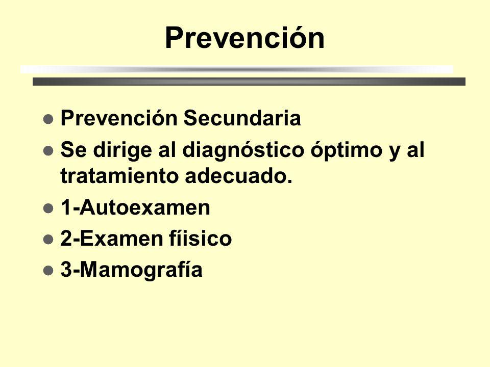 Prevención Prevención Primaria Está dirigida a eliminar la acción de los factores de riesgo nocivos y la creción de condiciones óptimas para el equili