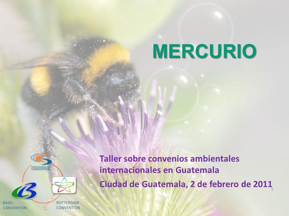 Mercurio MEDIDAS DE CONTROL Mercurio y sus compuestos Mercurio es un metal pesado -Metil mercurio : -Es neurotóxico: particular afectación al niño en desarrollo - Atraviesa la placenta - Efectos negativos en sistema cardiovascular, sistema endócrino, riñones