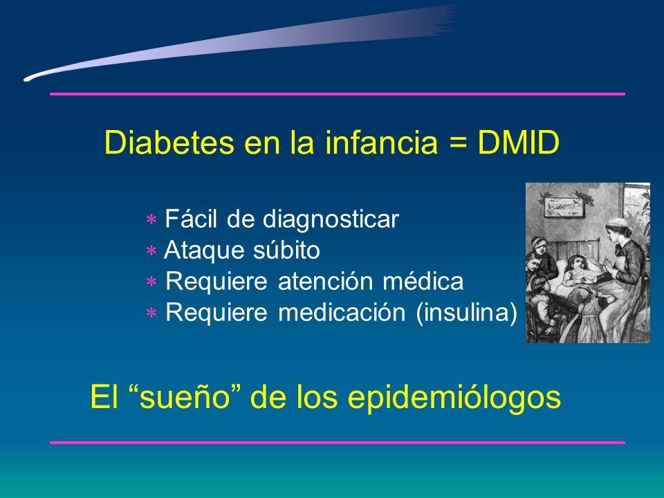 Antecedentes históricos 1979 y 1980 * Se define DMID y DMNID * 75 gr de glucosa oral para curva de tolerancia a la glucosa se convirtió en el estándar de oro con valore en ayunas y y 2 horas definidos * Categorías de IGT adicionado (estadio metabólico intermedio entre homeostasis de la glucosa normal y diabetes)