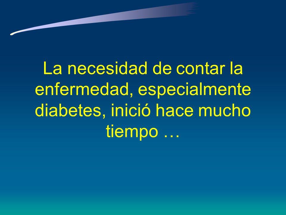 Objetivos *Contando la Diabetes: antecedentes históricos *Registros de Diabetes:¿Qué hemos aprendido.