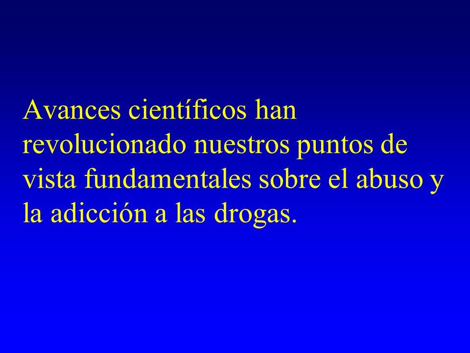 Avances científicos han revolucionado nuestros puntos de vista fundamentales sobre el abuso y la adicción a las drogas.