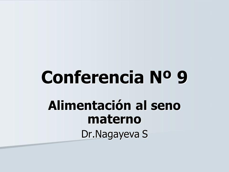Conferencia Nº 9 Alimentación al seno materno Dr.Nagayeva S