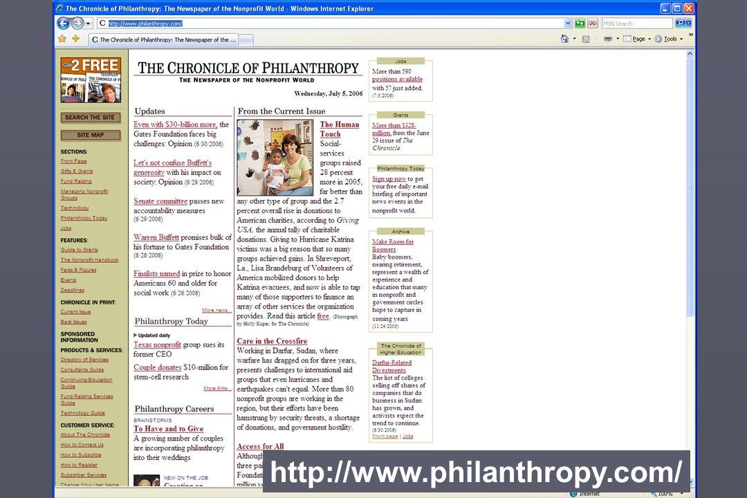 http://www.philanthropy.com/