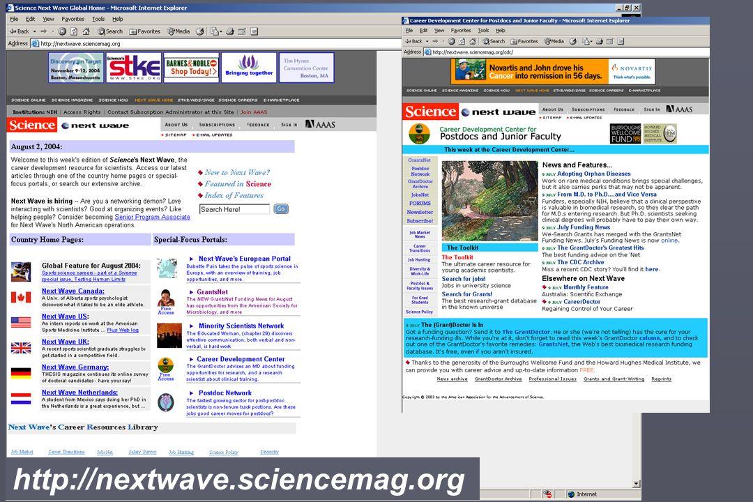 http://nextwave.sciencemag.org