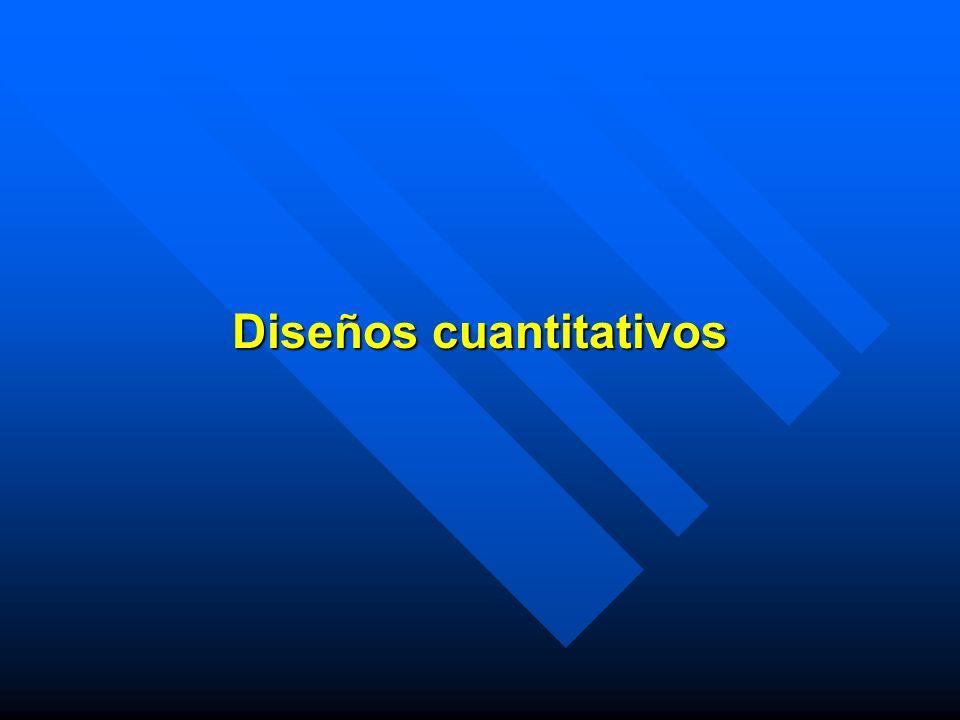 Diseños cuantitativos
