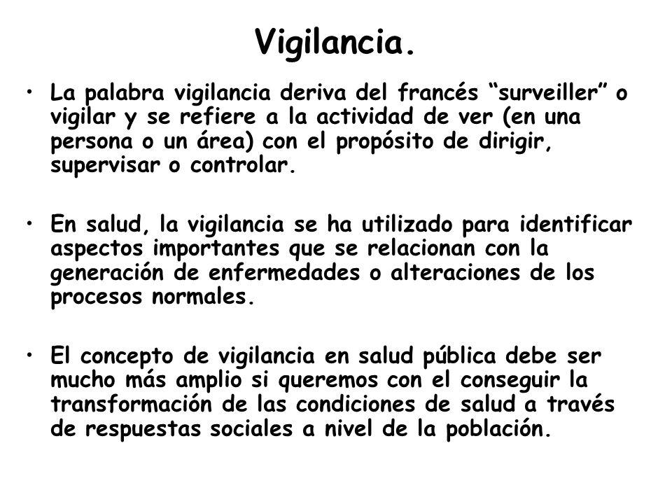 Vigilancia. La palabra vigilancia deriva del francés surveiller o vigilar y se refiere a la actividad de ver (en una persona o un área) con el propósi