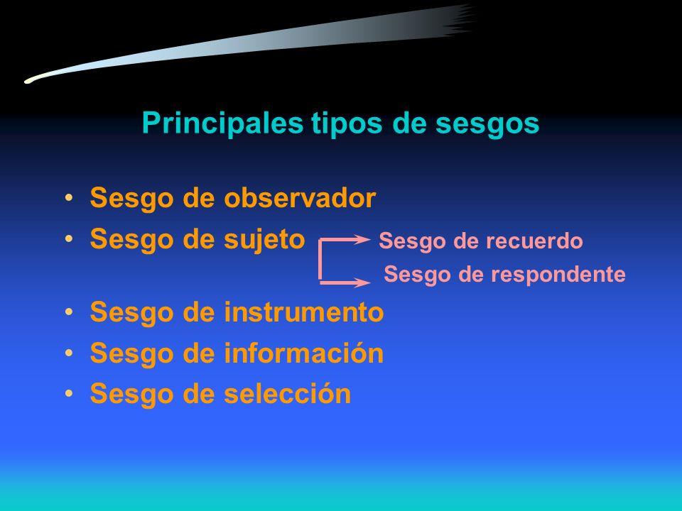 Resumen 1. Confiabilidad : Precisión, reproducibilidad Error aleatorio 2. Validez : seguridad, conformidad Error sistemático Sesgo