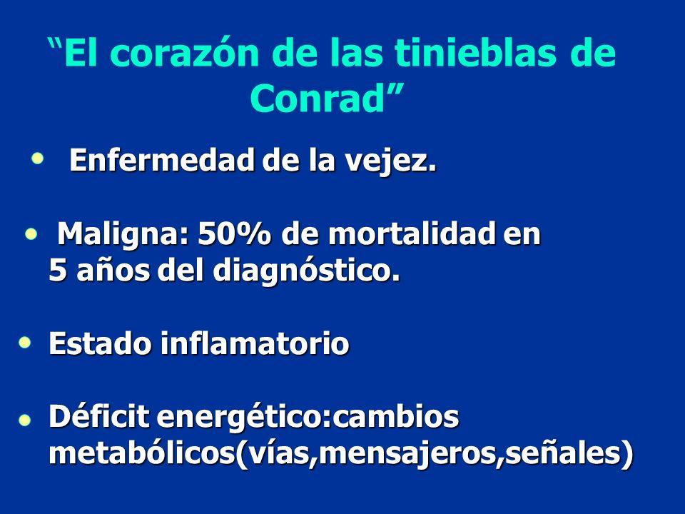 El corazón de las tinieblas de Conrad Enfermedad de la vejez. Enfermedad de la vejez. Maligna: 50% de mortalidad en Maligna: 50% de mortalidad en 5 añ