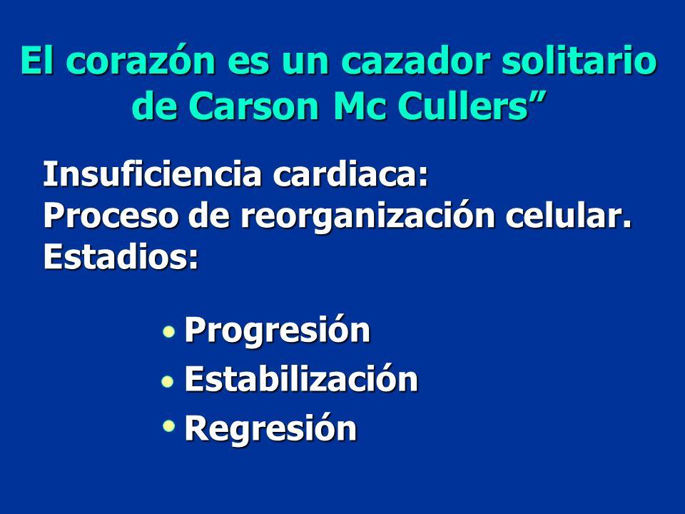 El corazón es un cazador solitario de Carson Mc Cullers de Carson Mc Cullers Insuficiencia cardiaca: Proceso de reorganización celular. Estadios: Prog