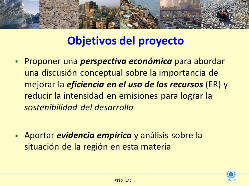 Objetivos del proyecto Proponer una perspectiva económica para abordar una discusión conceptual sobre la importancia de mejorar la eficiencia en el us