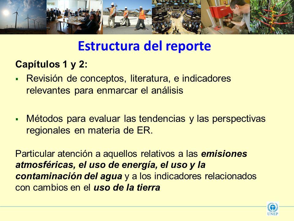 Capítulos 1 y 2: Revisión de conceptos, literatura, e indicadores relevantes para enmarcar el análisis Métodos para evaluar las tendencias y las persp