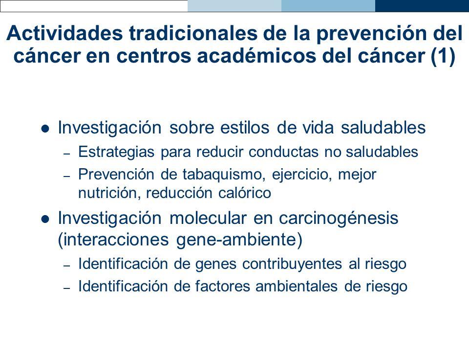 Investigación sobre estilos de vida saludables – Estrategias para reducir conductas no saludables – Prevención de tabaquismo, ejercicio, mejor nutrici
