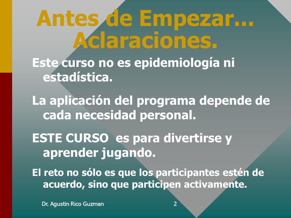 Profesor Titular Dr. Agustín Rico Guzmán Versión 6.04c para MS-DOS Curso de Aprendizaje Versión 6.04c para MS-DOS Curso de Aprendizaje Informática Méd