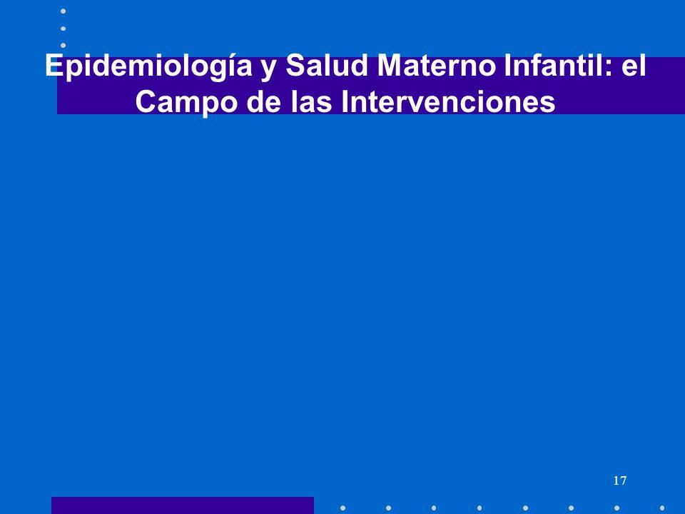 17 Epidemiología y Salud Materno Infantil: el Campo de las Intervenciones