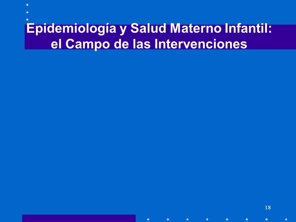 18 Epidemiología y Salud Materno Infantil: el Campo de las Intervenciones