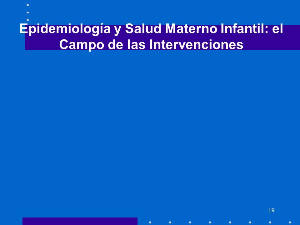 19 Epidemiología y Salud Materno Infantil: el Campo de las Intervenciones