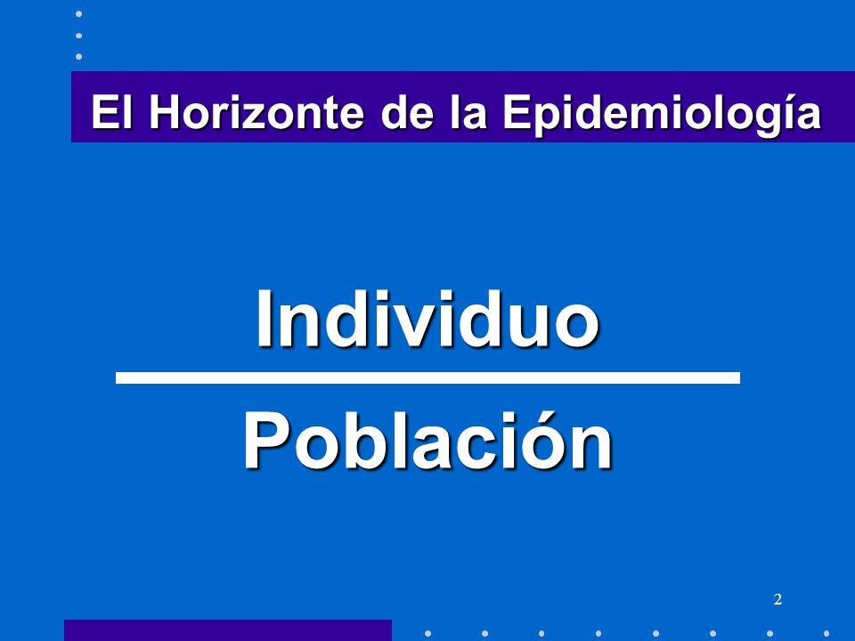 2 El Horizonte de la Epidemiología IndividuoPoblación