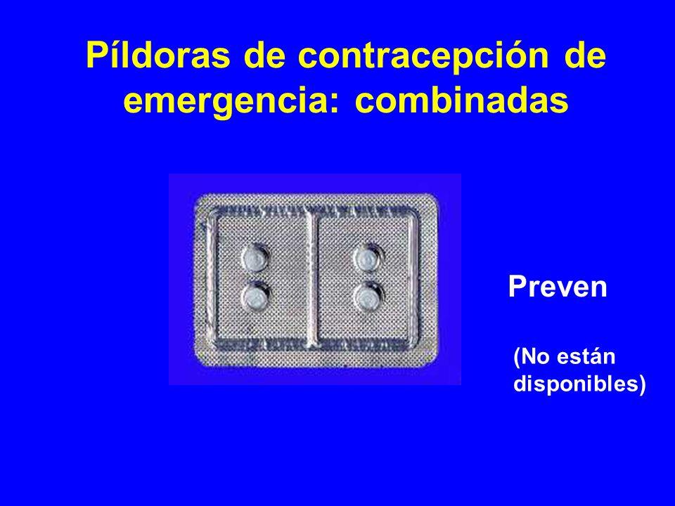 (No están disponibles) Preven Píldoras de contracepción de emergencia: combinadas