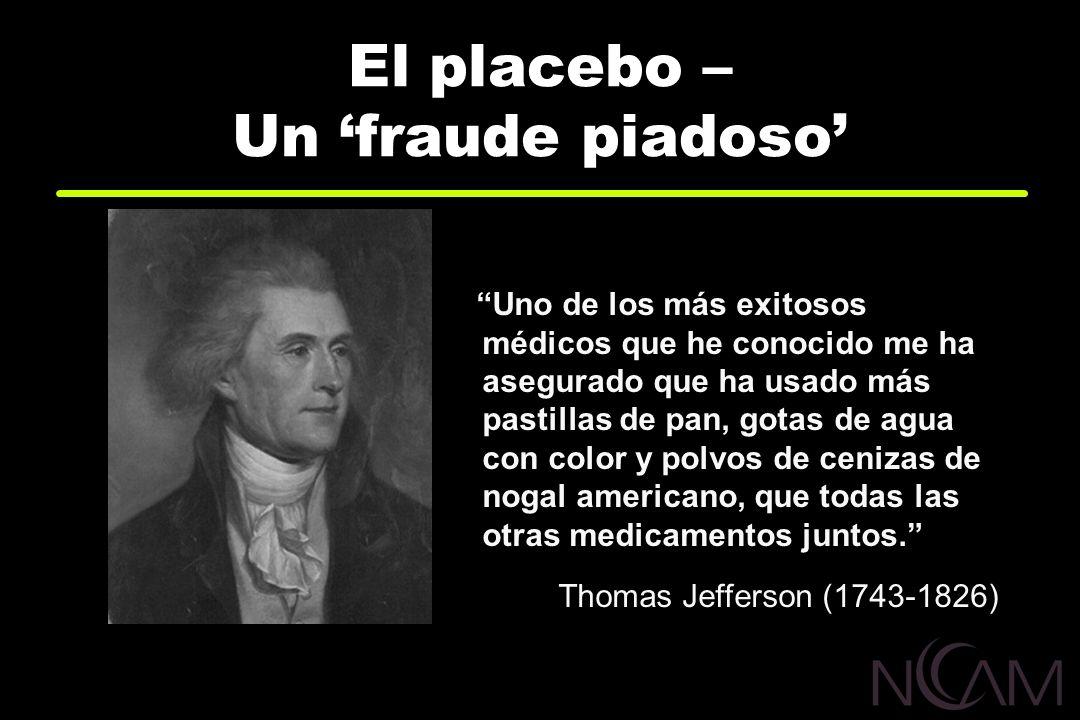El placebo – Un fraude piadoso Uno de los más exitosos médicos que he conocido me ha asegurado que ha usado más pastillas de pan, gotas de agua con co