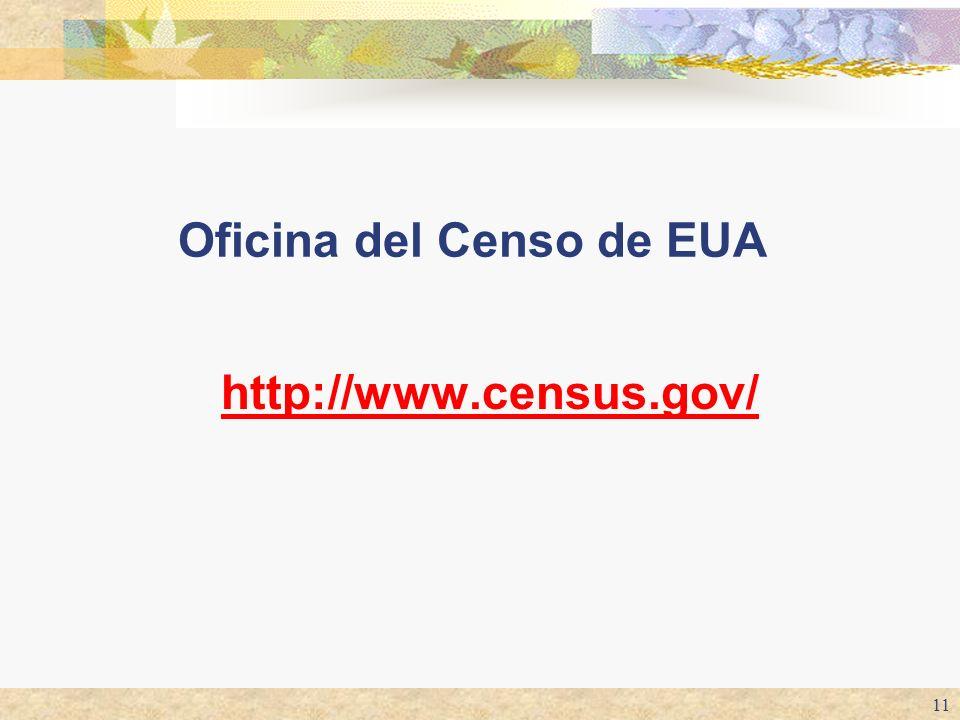 11 Oficina del Censo de EUA http://www.census.gov/