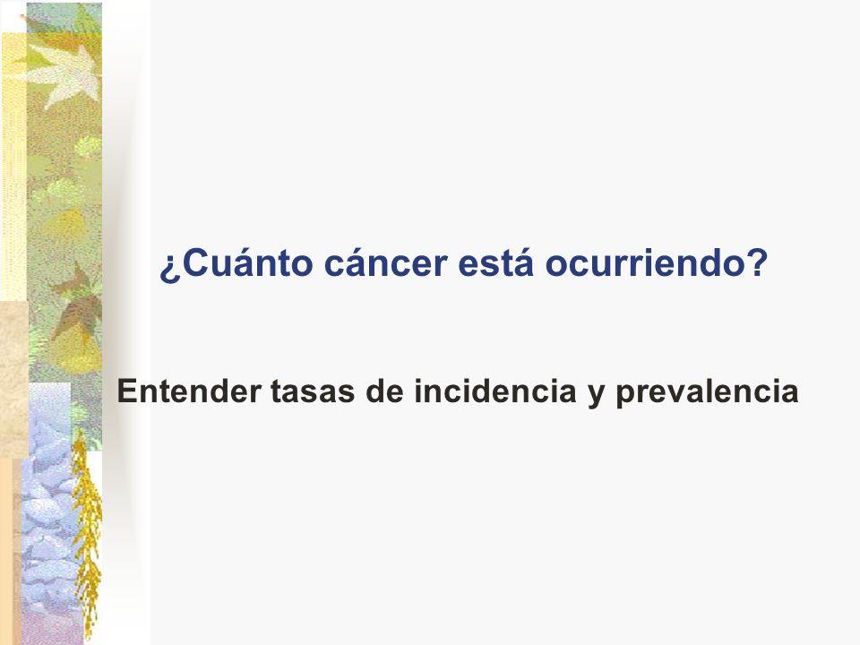 ¿Cuánto cáncer está ocurriendo? Entender tasas de incidencia y prevalencia