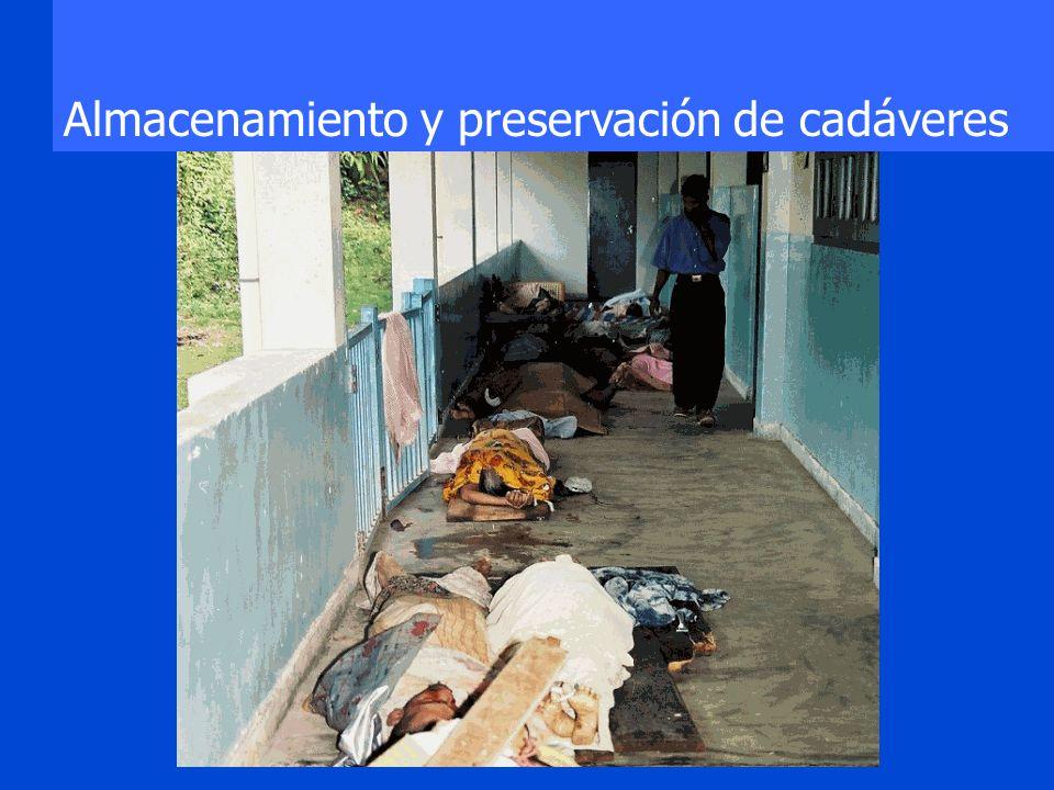 Storage and Body Preservation Almacenamiento y preservación de cadáveres