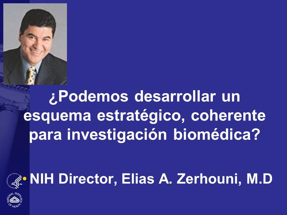¿Podemos desarrollar un esquema estratégico, coherente para investigación biomédica? NIH Director, Elias A. Zerhouni, M.D