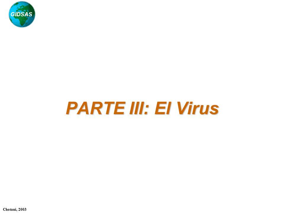 GIDSAS Chotani, 2003 PARTE III: El Virus