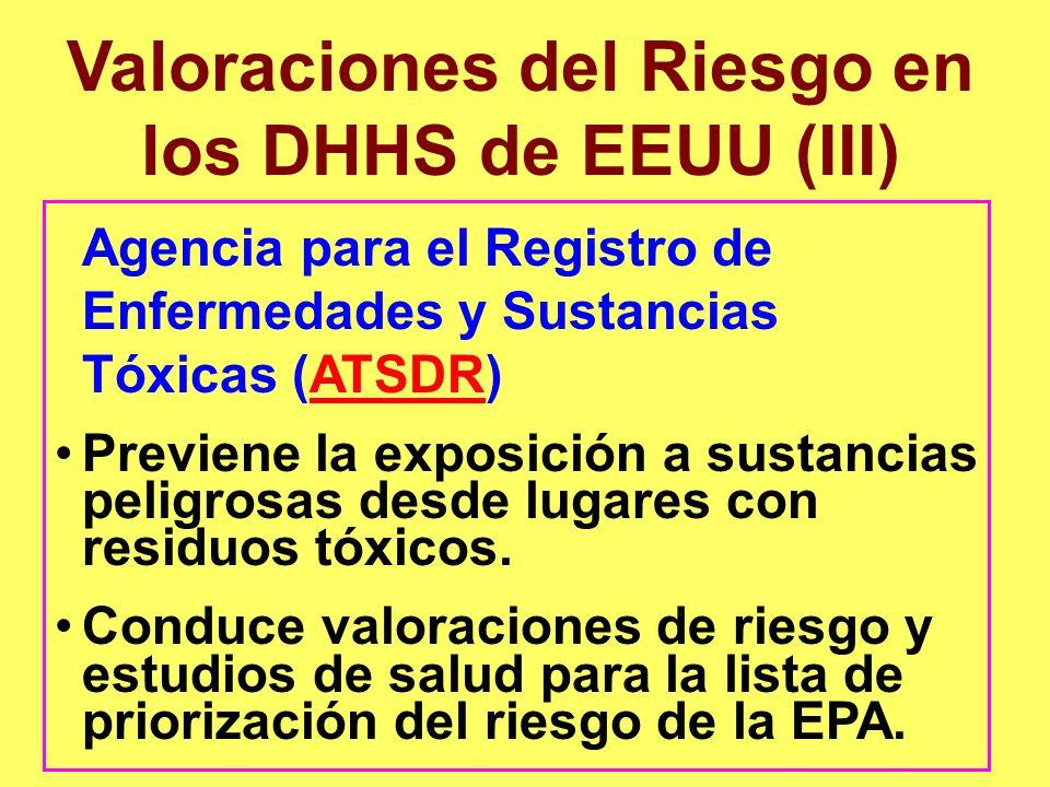 Agencia para el Registro de Enfermedades y Sustancias Tóxicas (ATSDR)ATSDR Previene la exposición a sustancias peligrosas desde lugares con residuos t