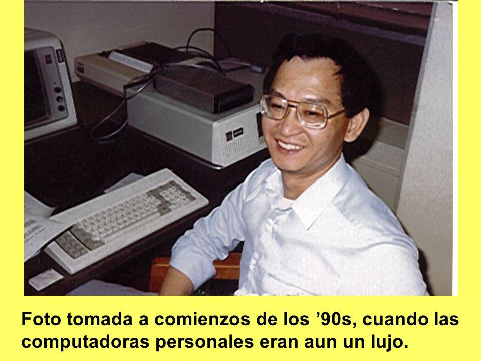 Foto tomada a comienzos de los 90s, cuando las computadoras personales eran aun un lujo.