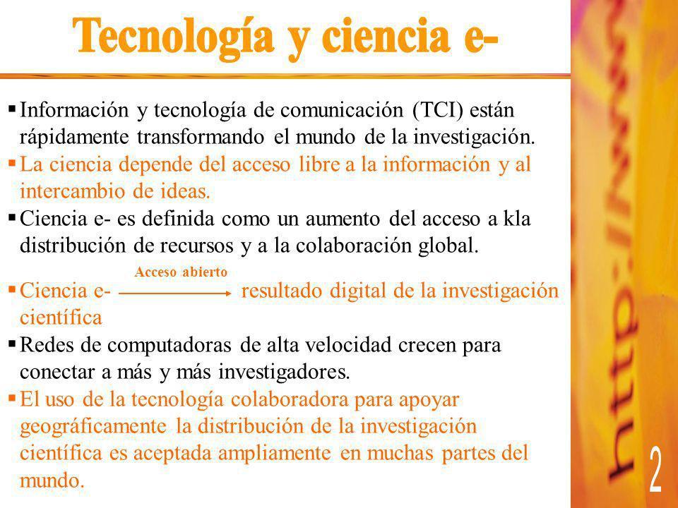 Información y tecnología de comunicación (TCI) están rápidamente transformando el mundo de la investigación.