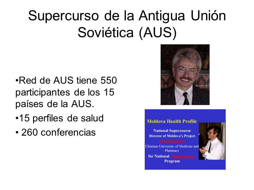 Supercurso de la Antigua Unión Soviética (AUS) Red de AUS tiene 550 participantes de los 15 países de la AUS.