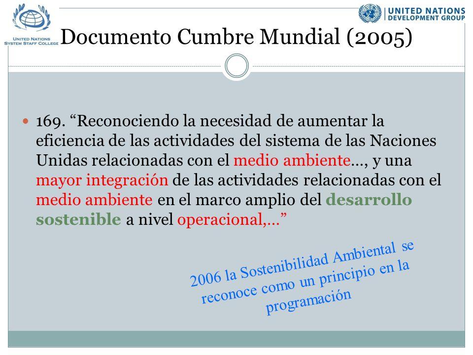 Documento Cumbre Mundial (2005) 169.