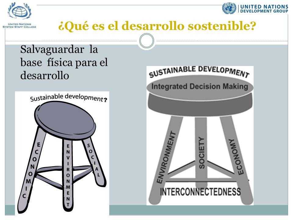 ¿Qué es el desarrollo sostenible Salvaguardar la base física para el desarrollo