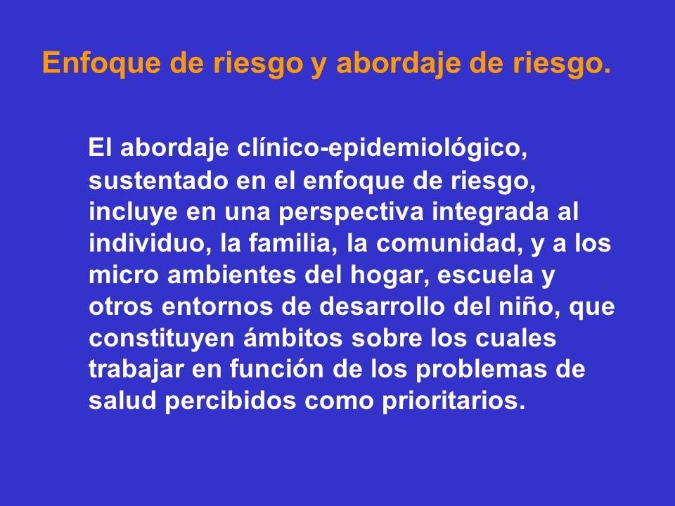 Estado de salud pediátrica y enfoque de riesgo.