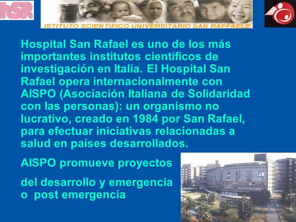 Hospital San Rafael es uno de los más importantes institutos científicos de investigación en Italia. El Hospital San Rafael opera internacionalmente c