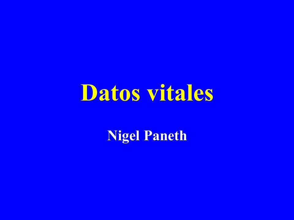 Datos vitales Nigel Paneth