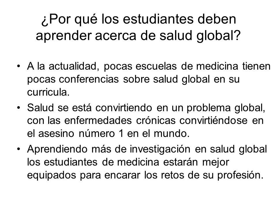 ¿Cómo te puedes involucrar con la salud global.