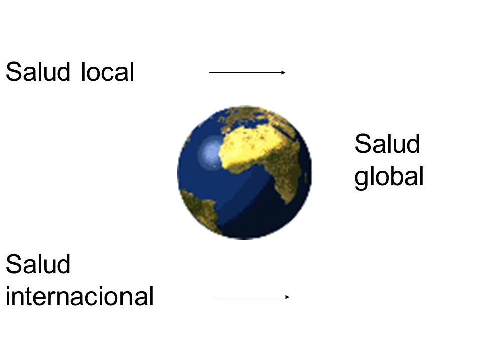 Salud global Salud local Salud internacional