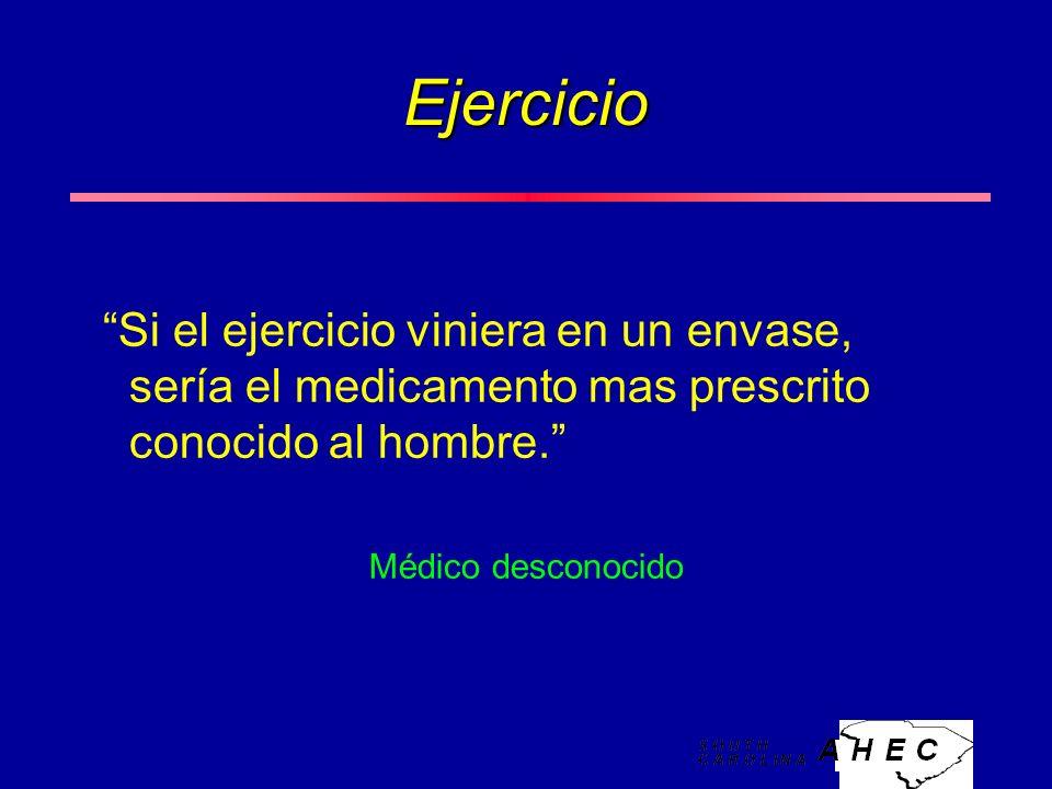 Ejercicio Si el ejercicio viniera en un envase, sería el medicamento mas prescrito conocido al hombre.