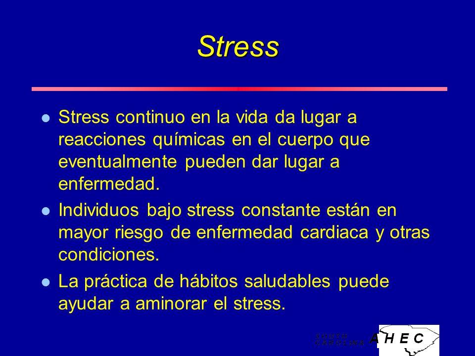 Stress l Stress continuo en la vida da lugar a reacciones químicas en el cuerpo que eventualmente pueden dar lugar a enfermedad.