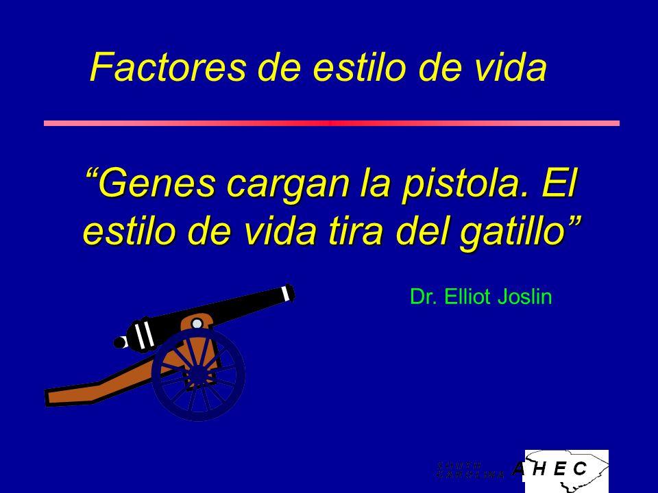 Genes cargan la pistola.El estilo de vida tira del gatillo Dr.