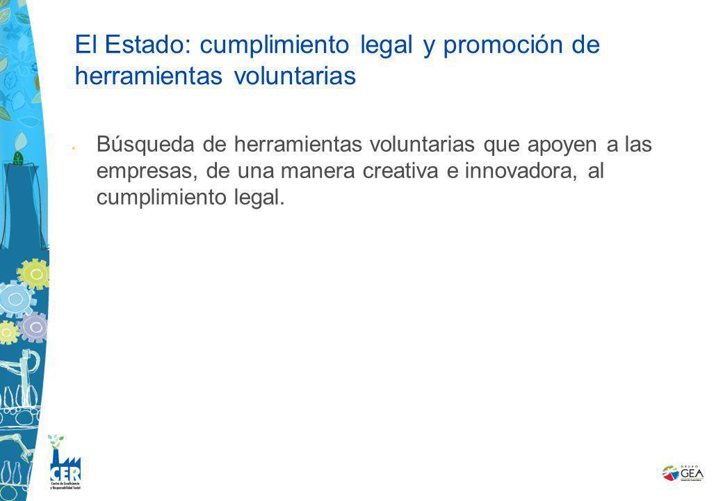 Búsqueda de herramientas voluntarias que apoyen a las empresas, de una manera creativa e innovadora, al cumplimiento legal. El Estado: cumplimiento le