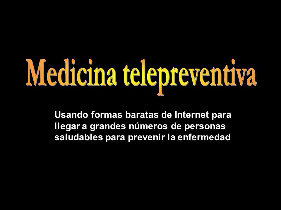 Usando formas baratas de Internet para llegar a grandes números de personas saludables para prevenir la enfermedad