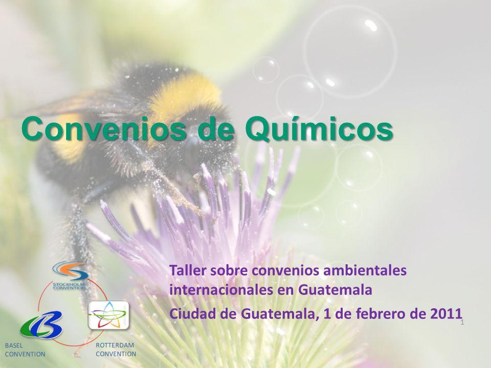 Taller sobre convenios ambientales internacionales en Guatemala Ciudad de Guatemala, 1 de febrero de 2011 Convenios de Químicos 1