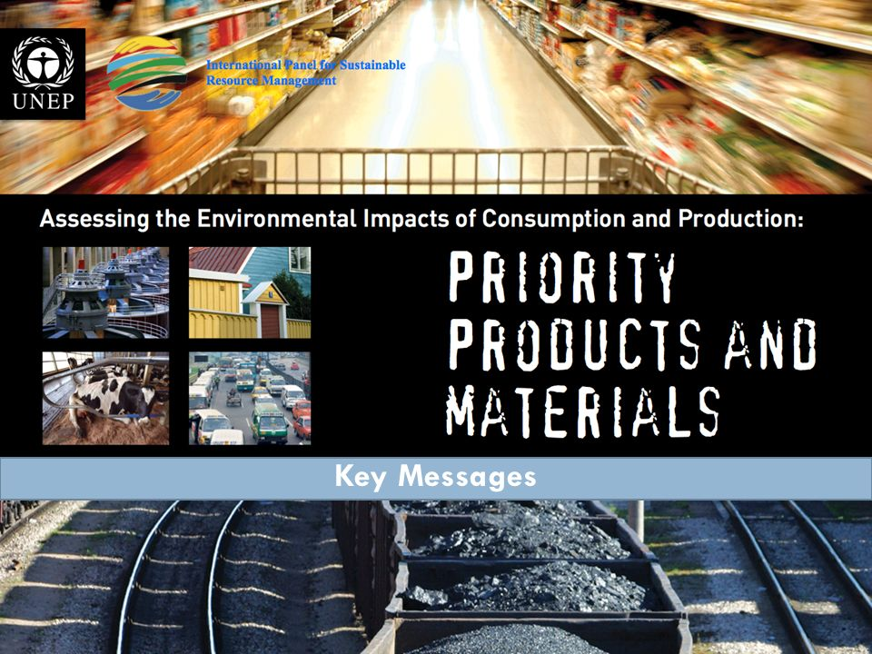 Assessing the environmental impacts of consumption and production: 1 June 2010 International Panel on the Sustainable Use of Natural Resources 4 Prior