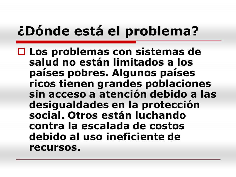 ¿Dónde está el problema.